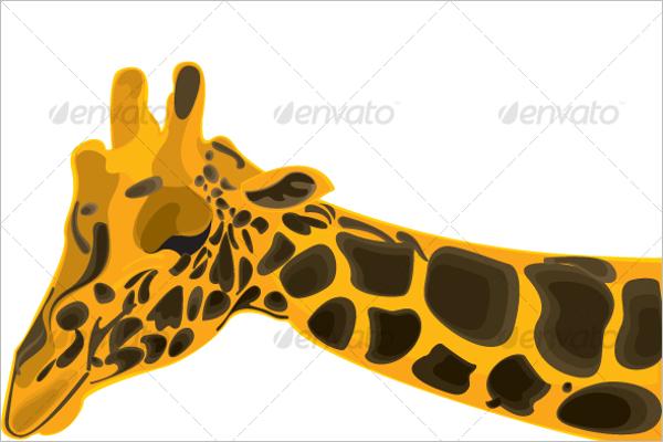 Wild giraffe Tropical Pattern