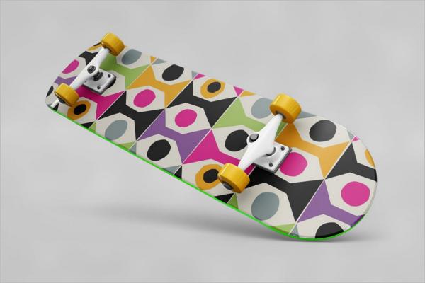 WoodSkateboard MockUp Design