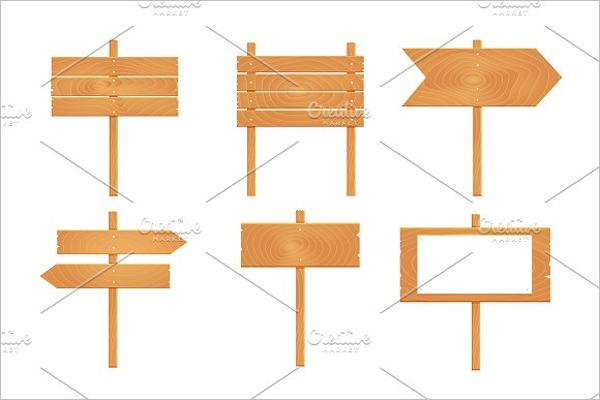 Wooden Arrows PSDTemplate