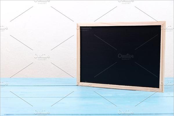 Wooden Black Board Template