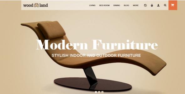 High Quality Woodland Furniture Store PrestaShop Theme
