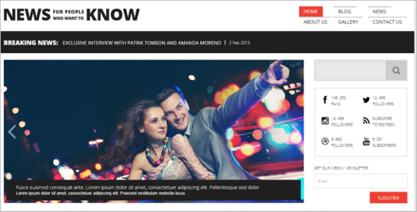 WordPress News Portal Theme