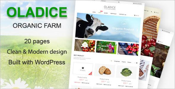 WordPress Organic Farm Theme