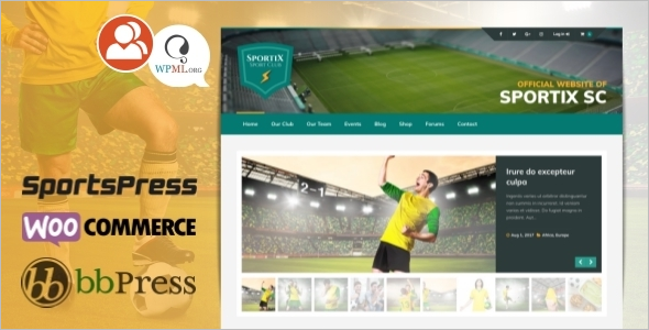 WordPress themes for Sport Clubs