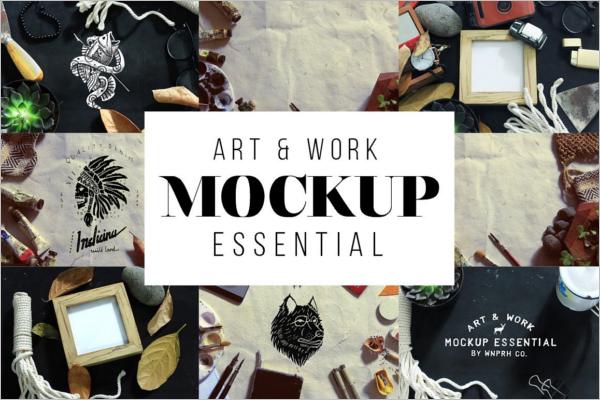 Work Essential Display Mockup