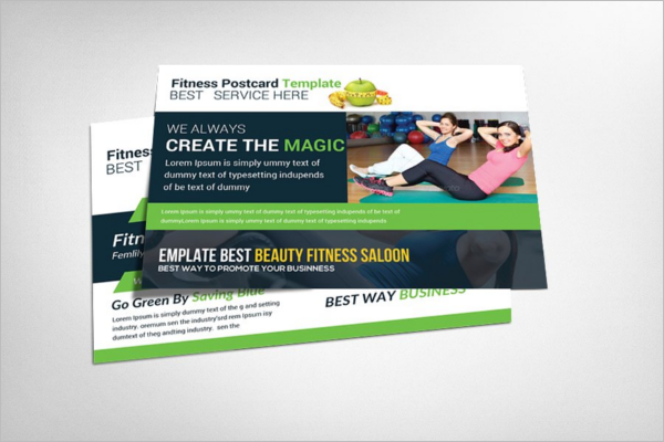 Yoga Fitness Postcard Template