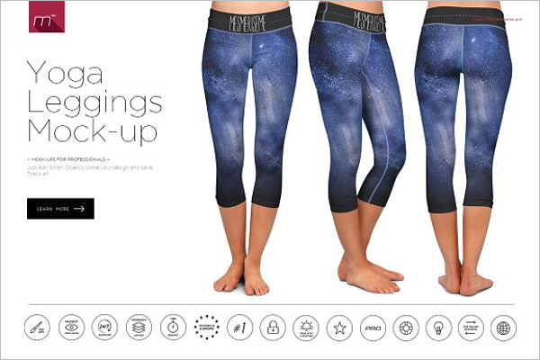 Yoga Leggings Mockup Design