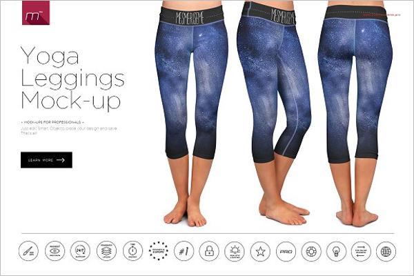 Yoga Leggings Mockup Design
