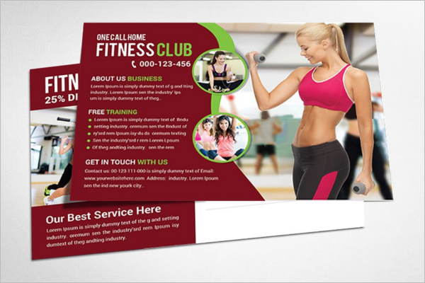 Yoga traning Post Card Template