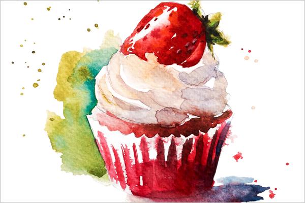 Yummy Sketch Cake Template