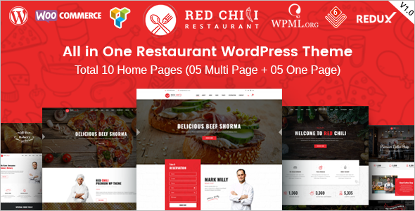 catering Business WordPress Template