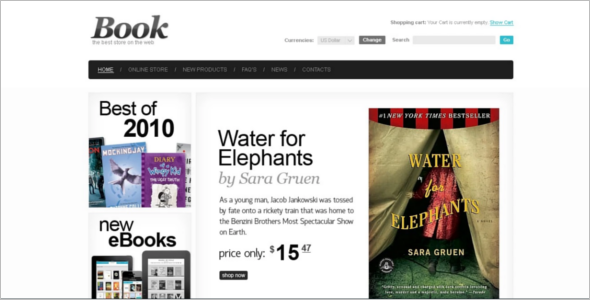 eBooks Store VirtueMart Template