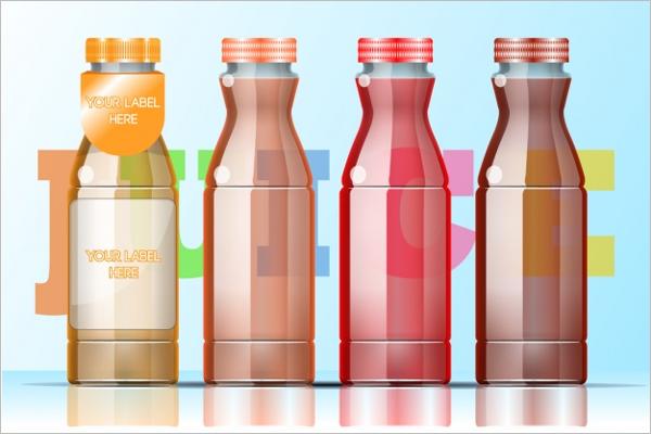 free plastic water bottle mockup