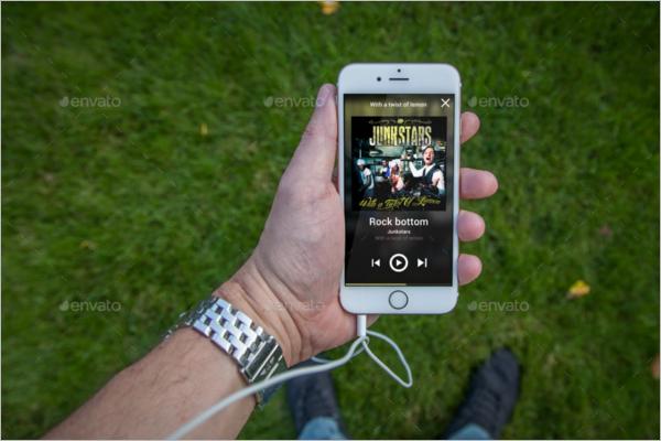 iPhone Headphones Mockup Design