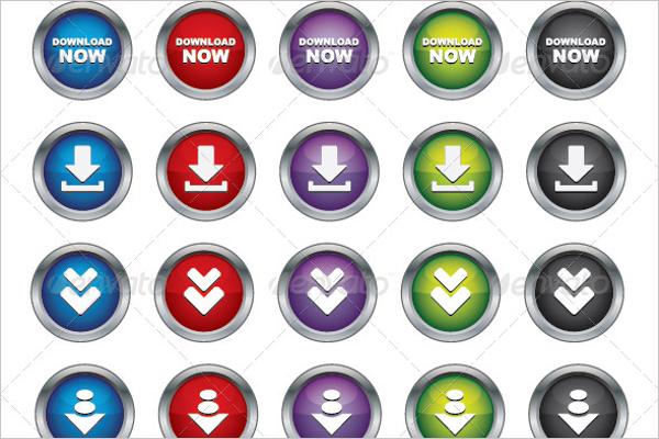 3D Buttons Template