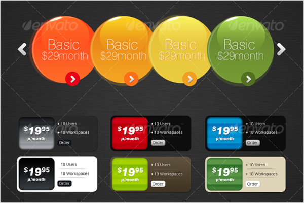 5 Pricing Table Design