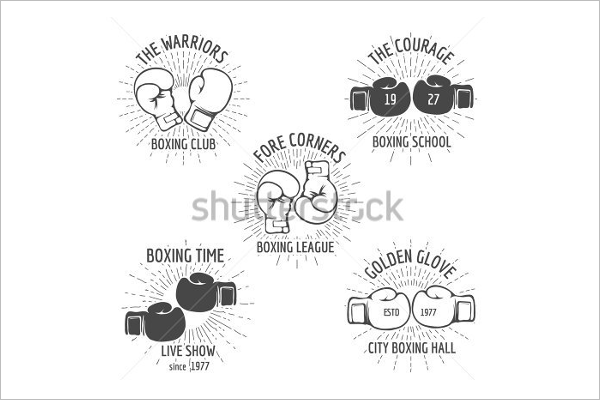 Abstract Boxing Badges Template