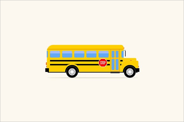 Abstract Bus Illustration Vector