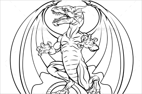 Abstract Dragon Tattoo Design