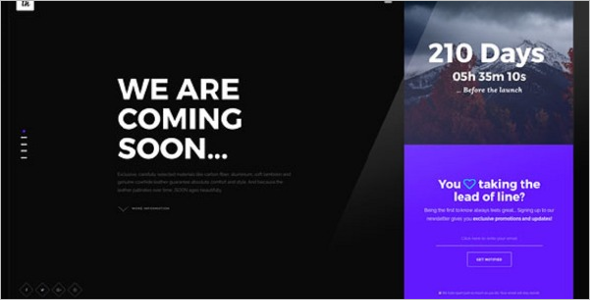 Abstract Website Coming Soon Theme