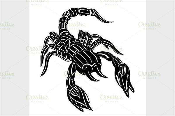 Abstract scorpion Tattoo Design