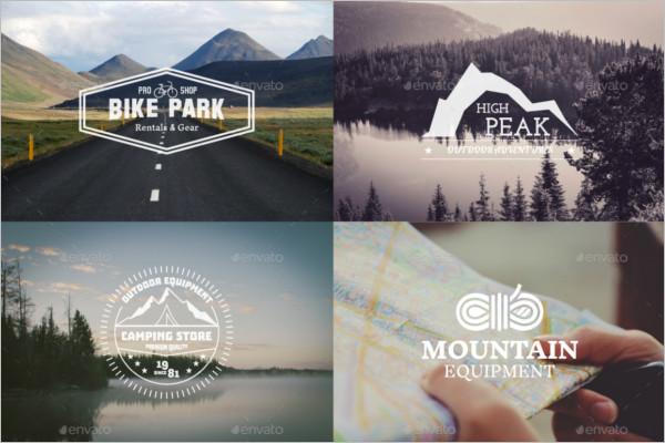Adventure Badge Sticker Design