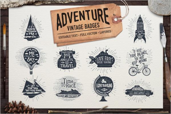 Adventure Vintage Badge Template