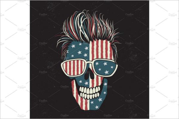 American Human Skull Design