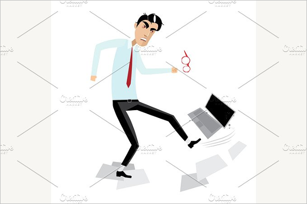 Angry Businessman Vector Design