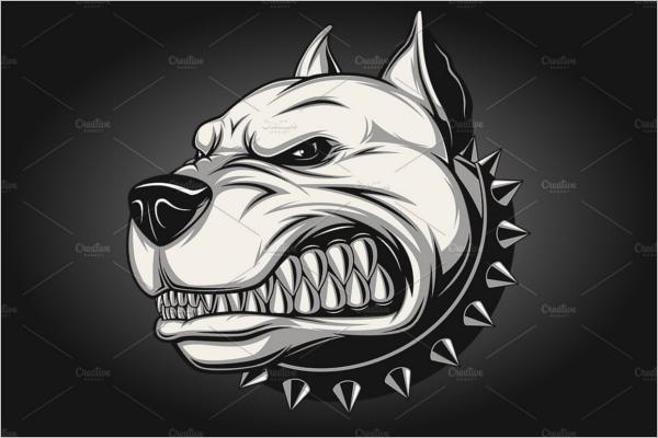 Angry dog Cartoon Template