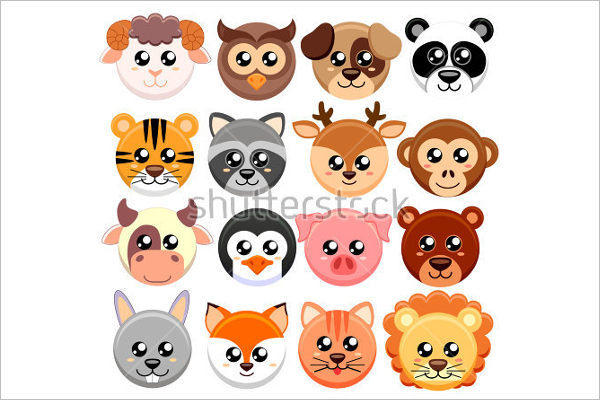 Animal Face Vector Design