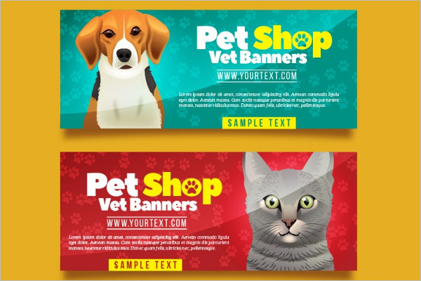 Animal Pet care Design Banner