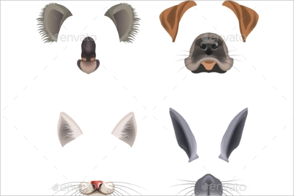 Animated Animal Face Template
