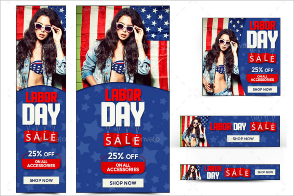 Animated Labor Day Banner Design