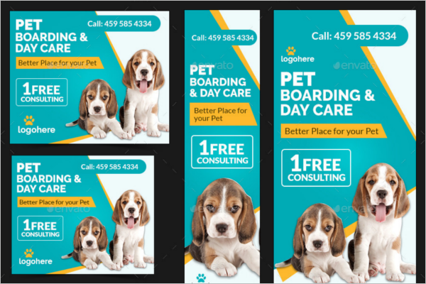 Animated Pet Care Banner Design