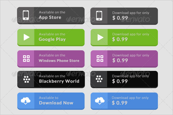 App Download Button template