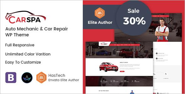 Auto Mechanic & Service WordPress Theme