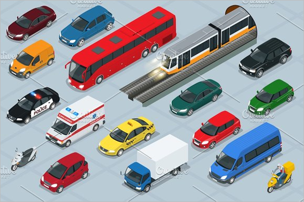 Automobile Icon Illustration Design