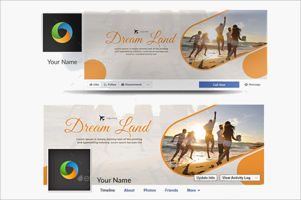 Awesome Travel Facebook Cover Template