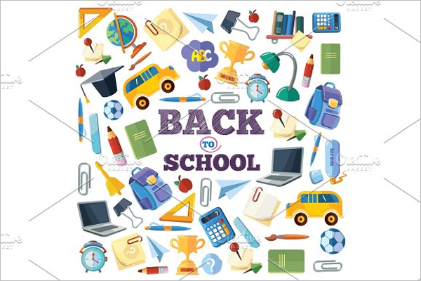 Back to School Background Illustration