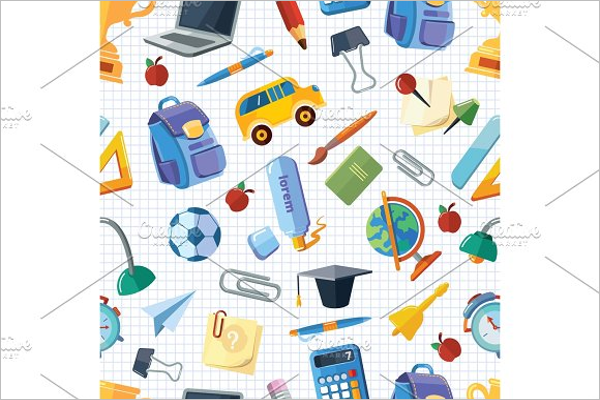 Background of Back to School Vector