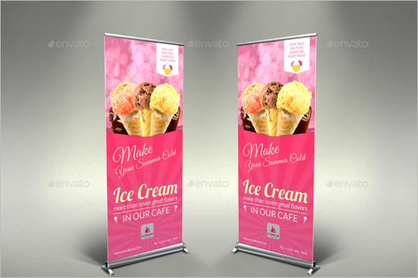 Bakery Ice Cream Banner Template