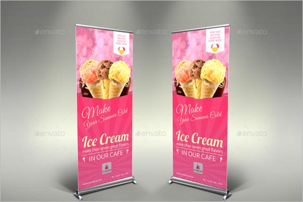 Bakery Ice Cream Banner Template