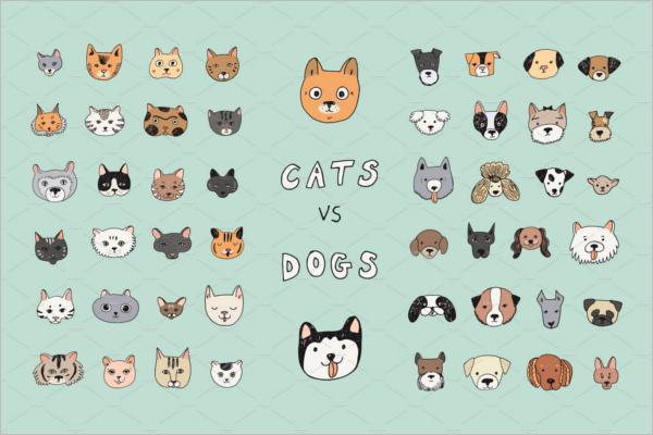 Best Animal Faces Vector Design