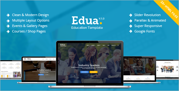 Best Educational HTML5 Template