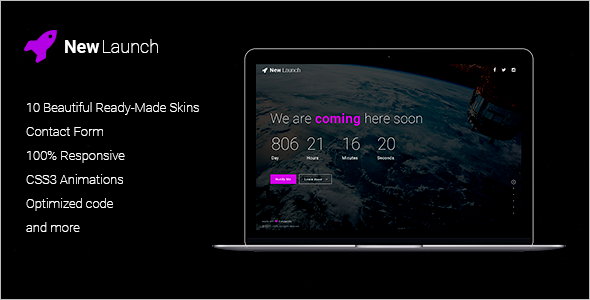 Best Responsive Coming Soon HTML Theme