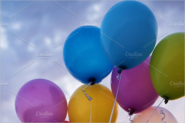 Birthday Party Balloons Template