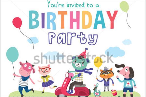 Birthday Party Cartoon Photo Template
