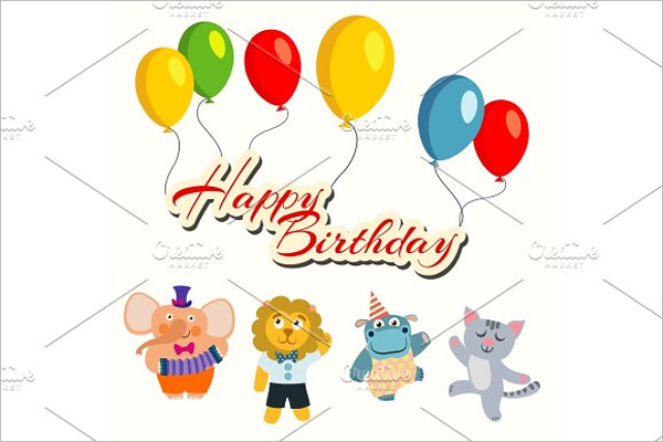 Birthday Party Cartoon Template