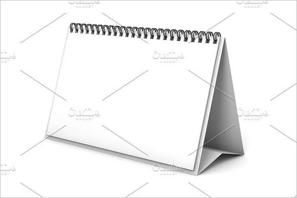 Blank Calendar 3D Template